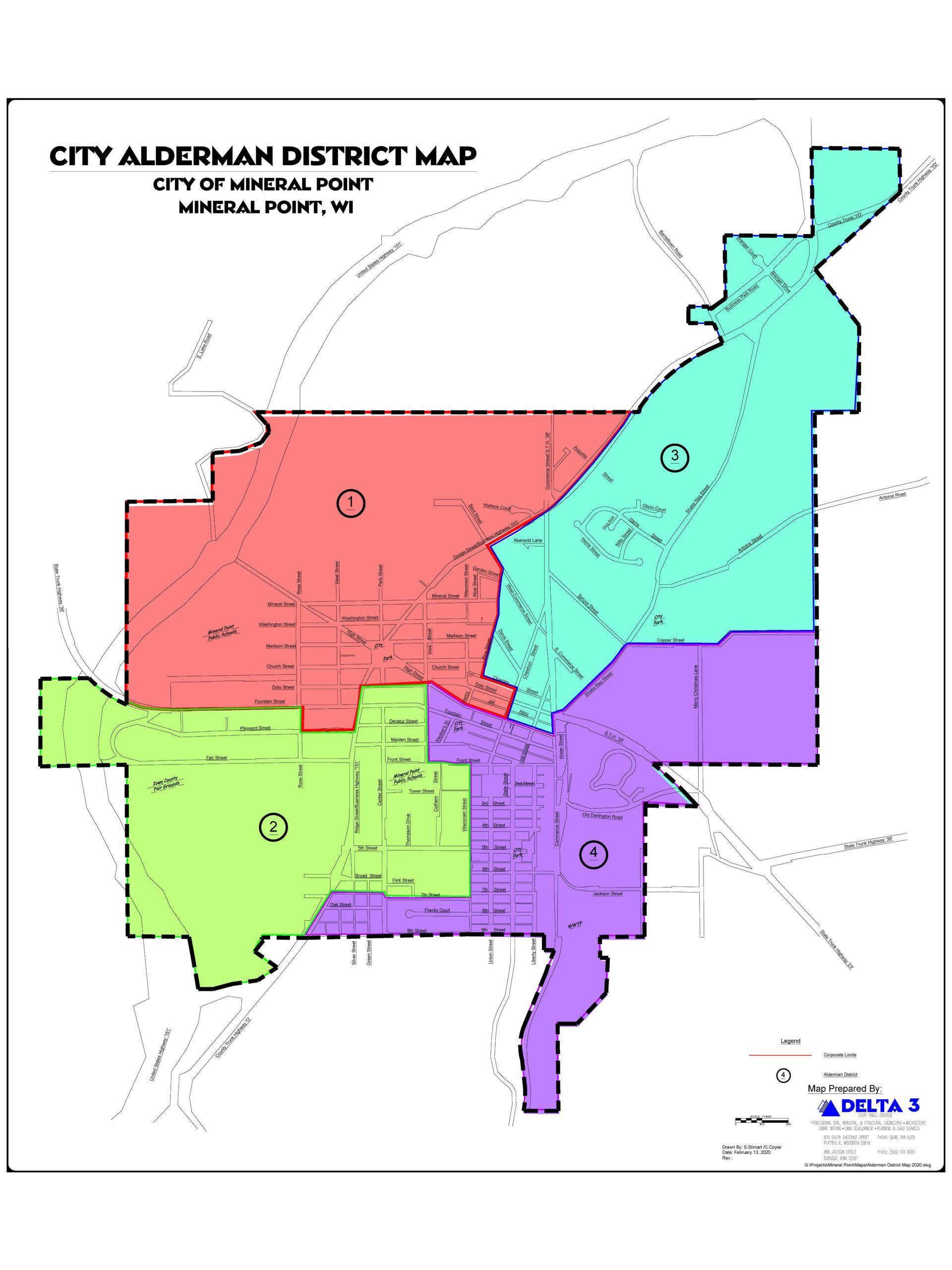 Aldermen District Map 2020